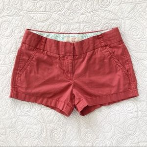 🔴 J. Crew Salmon Pink Broken In Chino Shorts 00